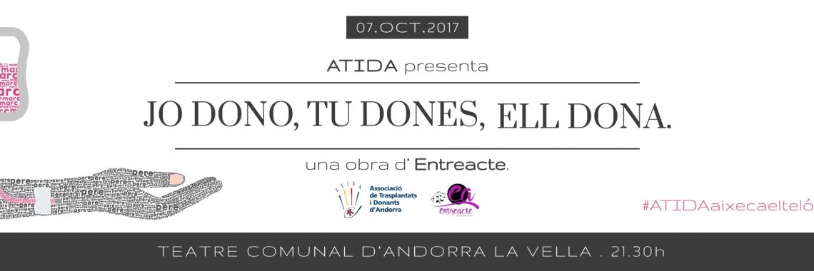 Obra de Teatre - Jo dono, Tu dones, Ell dona.